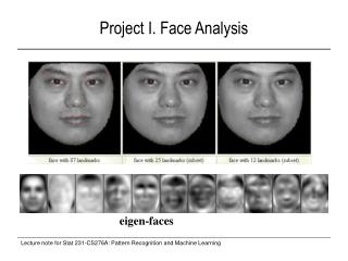 Project I. Face Analysis
