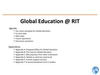 Global Education @ RIT