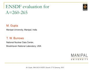 ENSDF evaluation for A=260-265