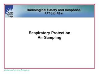 Respiratory Protection Air Sampling