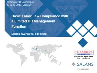 Basic Labor Law Compliance with a Limited HR Management Function