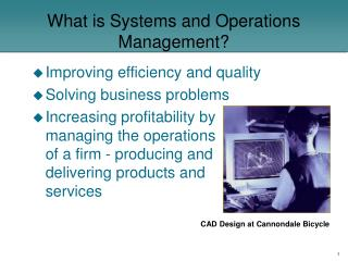 What is Systems and Operations Management?