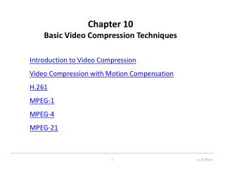 Chapter 10 Basic Video Compression Techniques