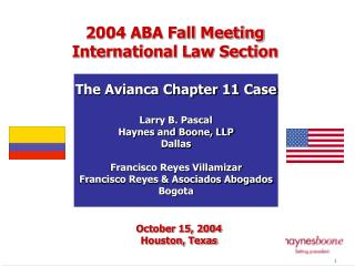October 15, 2004 Houston, Texas