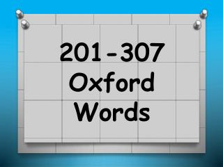 2 01-307 Oxford Words