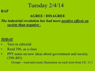 Tuesday 2/4/14