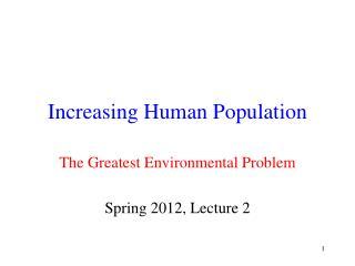 Increasing Human Population