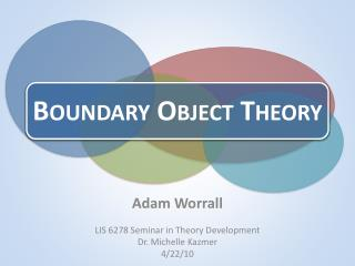 Boundary Object Theory