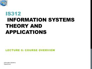 IS312  information systems theory and applications