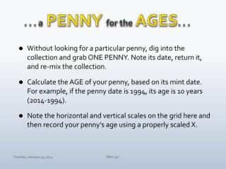 . . . a PENNY  for the AGES . . .