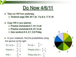 Do Now 4/6/11