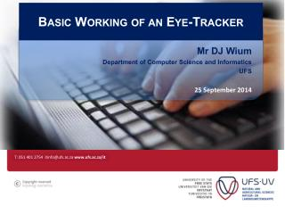 Basic Working of an Eye-Tracker