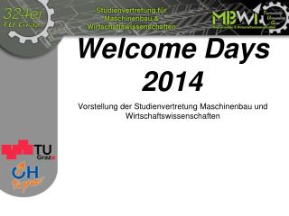 Welcome Days 2014