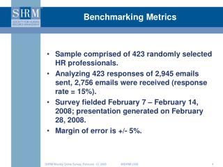 Benchmarking Metrics