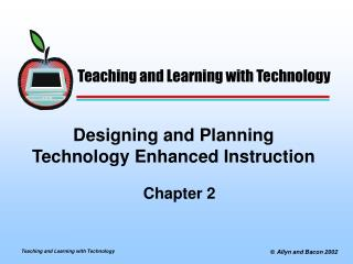 Designing and Planning Technology Enhanced Instruction