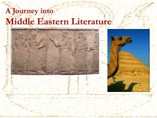 A Journey into  Middle Eastern Literature