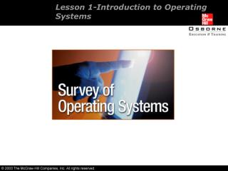 Lesson 1-Introduction to Operating Systems