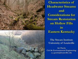 The Stream Institute University of Louisville Art Parola Civil & Environmental Engineering