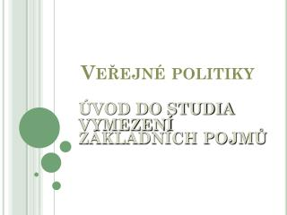 Veřejné  politiky