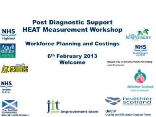 Post Diagnostic Support  HEAT Measurement Workshop Workforce Planning and Costings