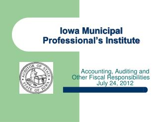 Iowa Municipal  Professional's Institute