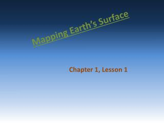 Mapping Earth�s Surface