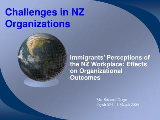 Challenges in NZ Organizations