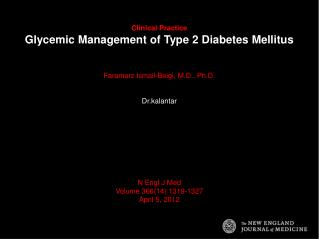 Clinical Practice Glycemic Management of Type 2 Diabetes Mellitus
