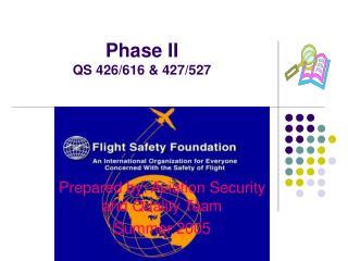 Phase II QS 426/616 & 427/527
