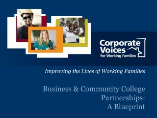 Business & Community College Partnerships: A Blueprint