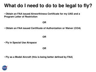 What do I need to do to be legal to fly