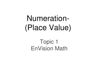 Topic 1 EnVision Math