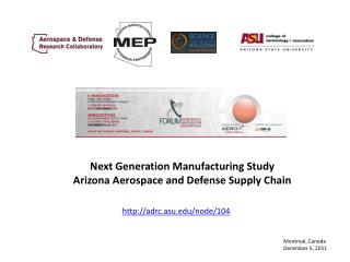 Next Generation Manufacturing Study Arizona Aerospace and Defense Supply Chain
