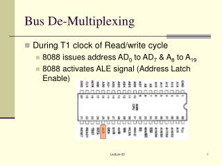Bus De-Multiplexing