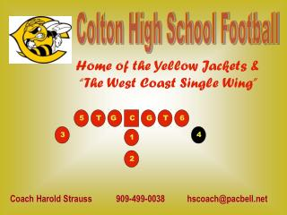 Colton High School Football