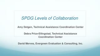 SPDG Levels of Collaboration