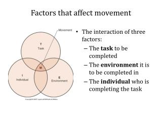 Factors that affect movement