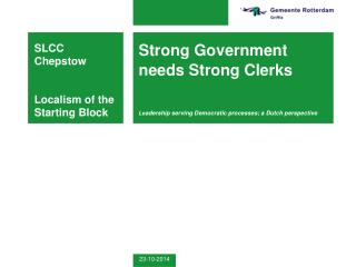 SLCC Chepstow Localism of the Starting Block