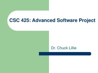 CSC 425:  Advanced Software Project