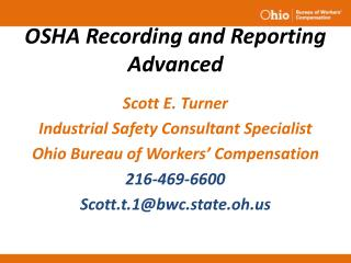 OSHA Recording and Reporting Advanced