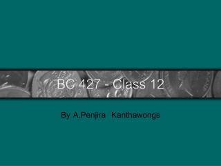 BC 427 - Class 12