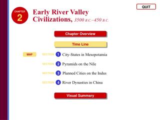 Early River Valley  Civilizations,  3500  B.C. –450  B.C.