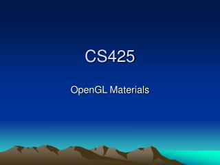 CS425