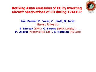 Deriving Asian emissions of CO by inverting aircraft observations of CO during TRACE-P