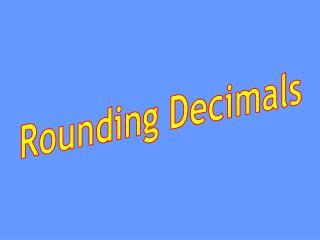Rounding Decimals