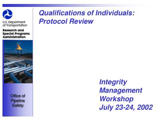 Qualifications of Individuals: Protocol Review
