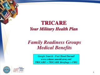 Family Readiness Groups Medical Benefits