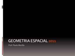 Geometria espacial 2011