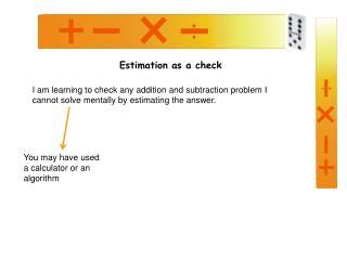 Estimation as a check