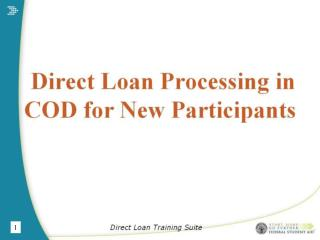 Direct Loan Training Suite